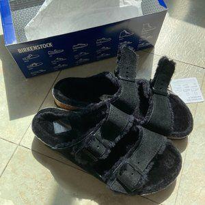 Brand-new black Birkenstocks size 41